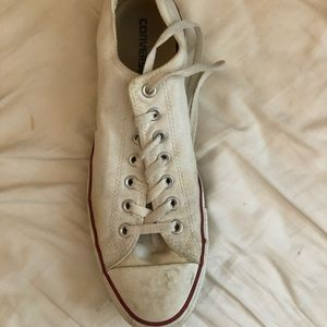 Gently worn converse shoes